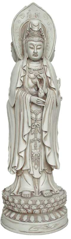 Image of   Kuan-Yin figur stående - 35.5cm