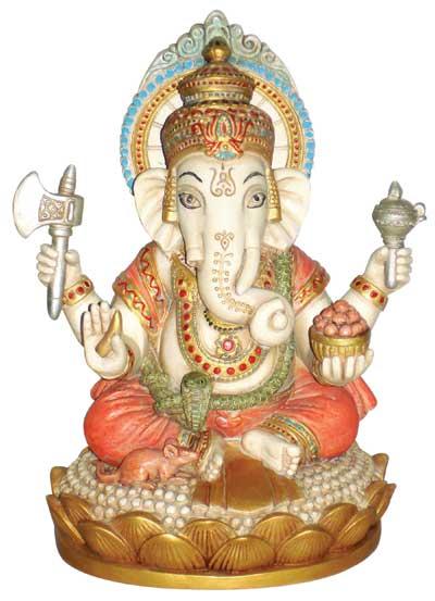 Ganesh - 17cm fra N/A fra bog & mystik