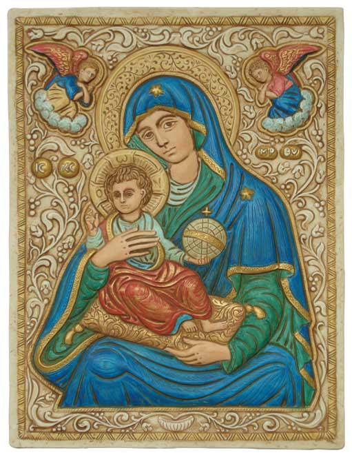 Ikon Tavle - Jomfru Maria med Jesus barnet
