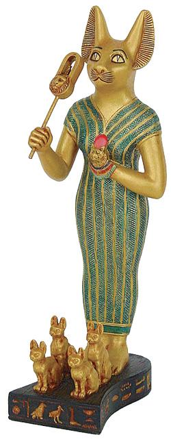 Bastet figur - 22 cm - Egyptisk figur