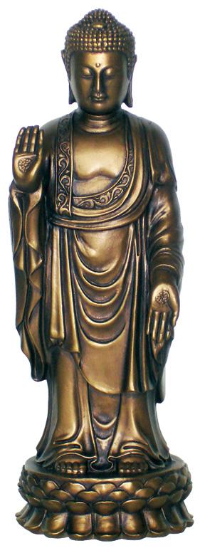 Image of   Buddha Stående - 24.5 cm