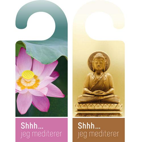 Dørskilt - Shhh...Jeg mediterer
