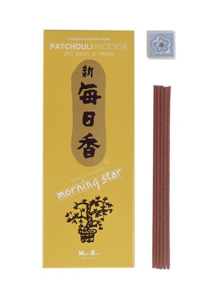 Image of   Japansk røgelse - Patchouli - Morning Star - Røgelsespinde
