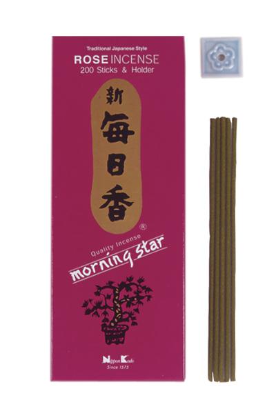 Image of   Japansk røgelse - Rose - Morning Star - Røgelsespinde