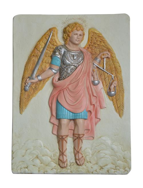 Image of   Ikon Tavle - Ærkeenglen Michael