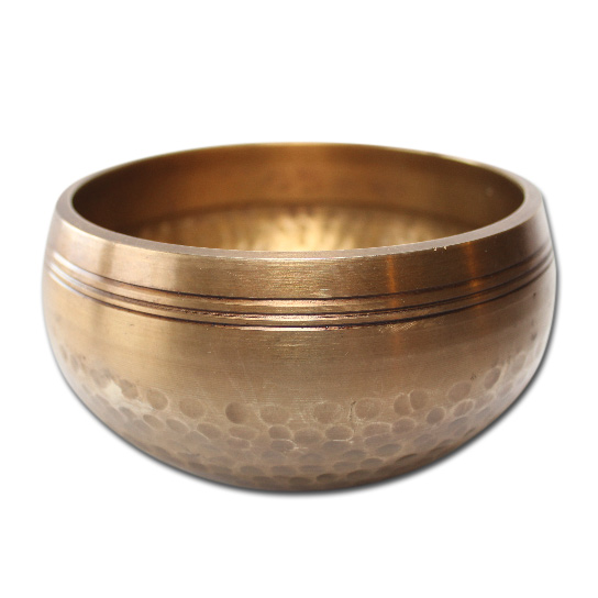 N/A – Syngeskål med pind - 300-399 gram - tibetansk syngeskål på bog & mystik