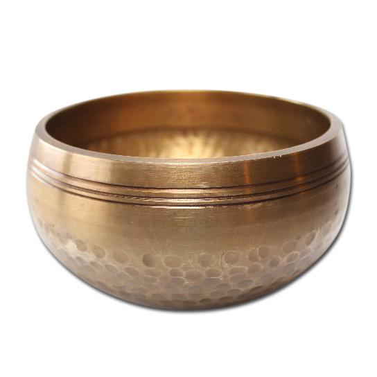 N/A – Syngeskål med pind - 400-499 gram - tibetansk syngeskål fra bog & mystik