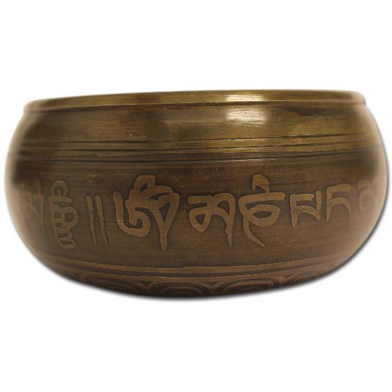 N/A Syngeskål med pind - ca 400 gram - tibetansk syngeskål på bog & mystik