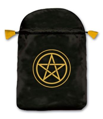 N/A – Tarotkort / englekort pose med pentagram på bog & mystik