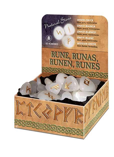 Runesæt - Hvid Onyx