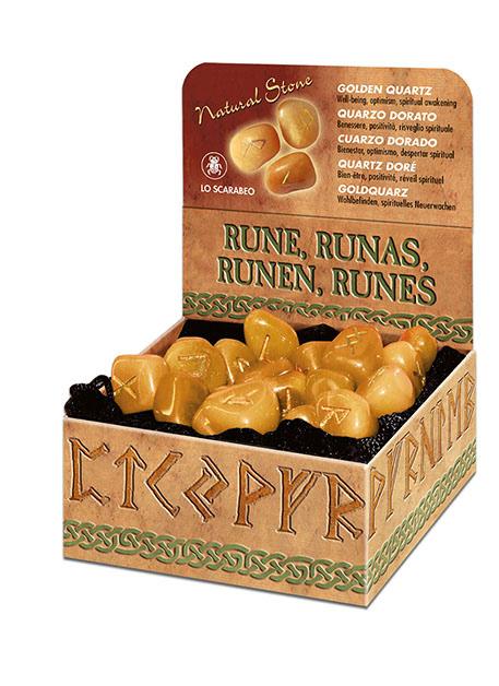 Runesæt - Gylden kvarts