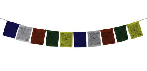 N/A – Tibetanske bedeflag på bog & mystik