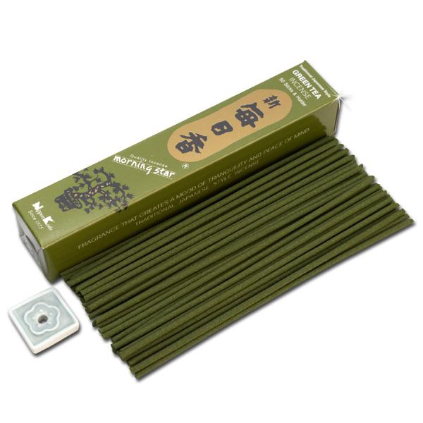 Image of   Japansk røgelse - Green Tee - Morning Star - Røgelsespinde