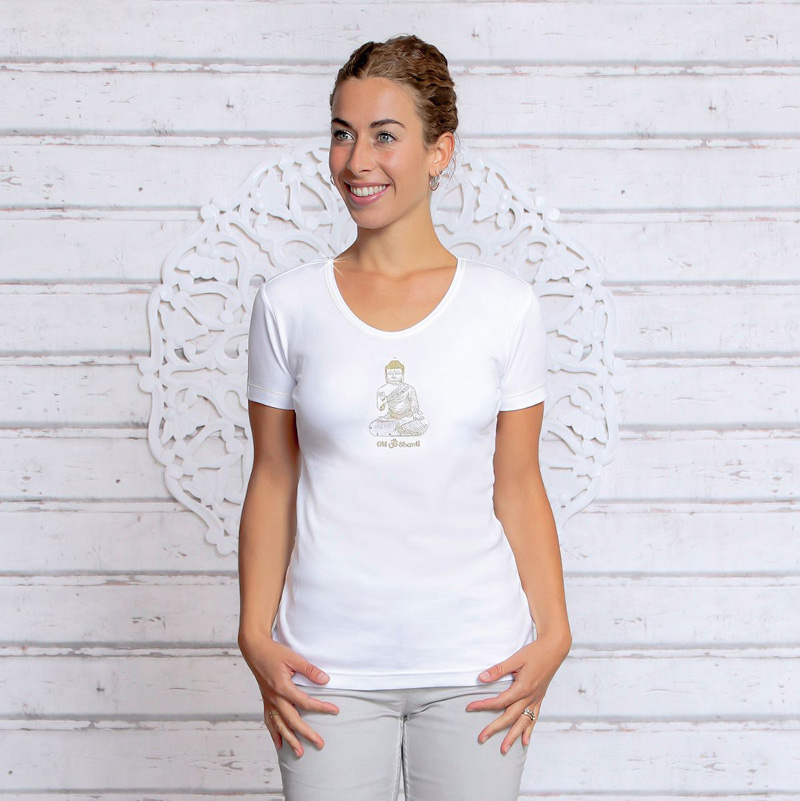 Image of   Buddha T-shirt - Hvid - Spirit of om