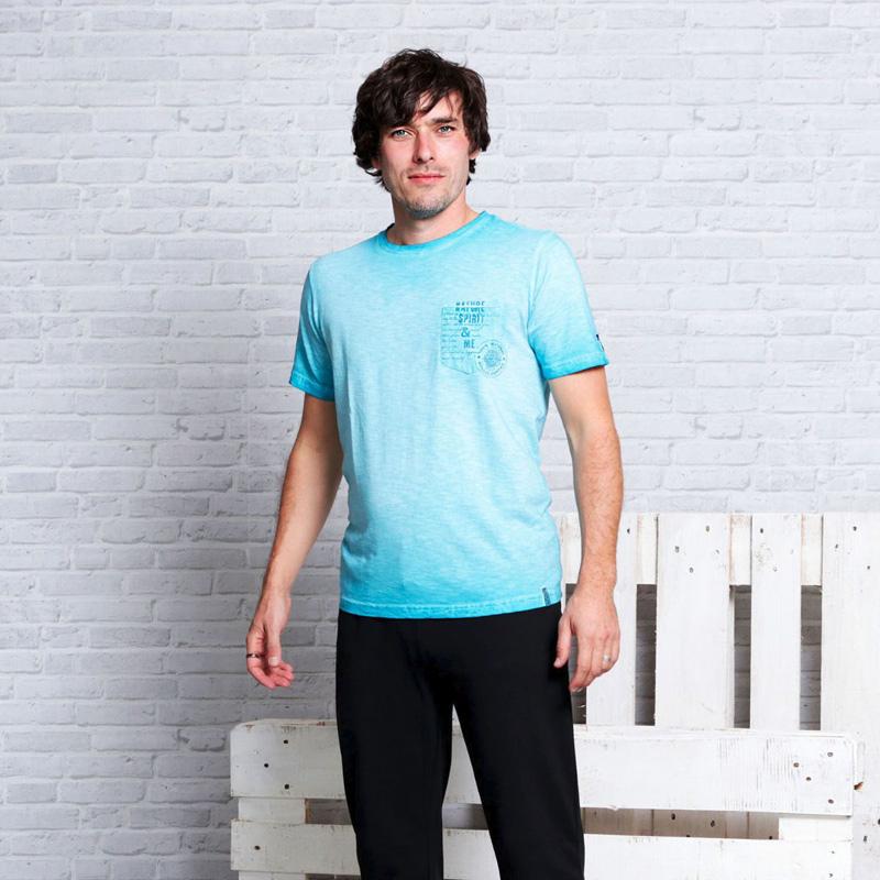 Image of   T-Shirt - Turkisblå - Spirit of OM