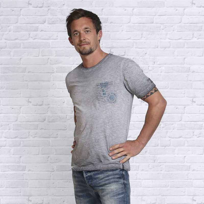 Image of   T-Shirt - Grå - Spirit of OM