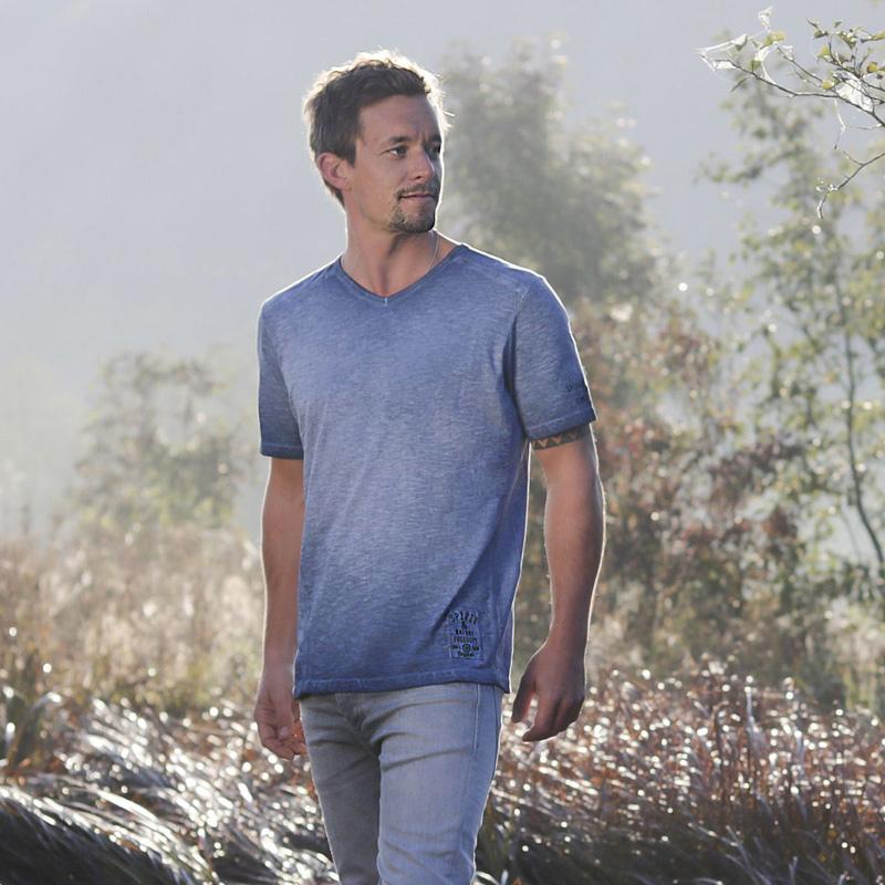 Image of   T-Shirt - jeans blå - Spirit of OM
