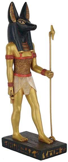 N/A Anubis figur - 22cm - egyptisk figur på bog & mystik