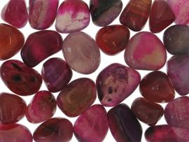 N/A – Agat pink indfarvet - pr sten fra bog & mystik