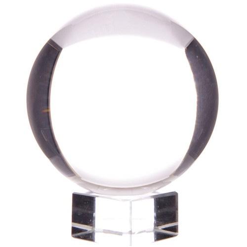 Krystalkugle - 80mm - med opsats - Krystalkugler