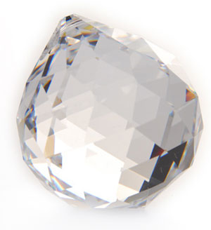 N/A – Prisme kugle 20mm -  krystal på bog & mystik