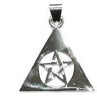 N/A Vedhæng med pentagrammet i en pyramide 35mm fra bog & mystik