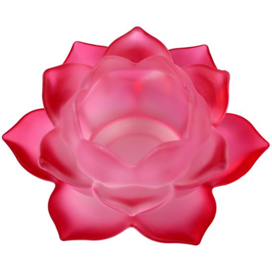 Lotus lyseholder til Fyrfadslys - Rød