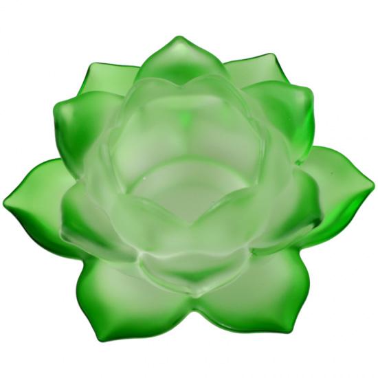 Lotus lyseholder til Fyrfadslys - Grøn