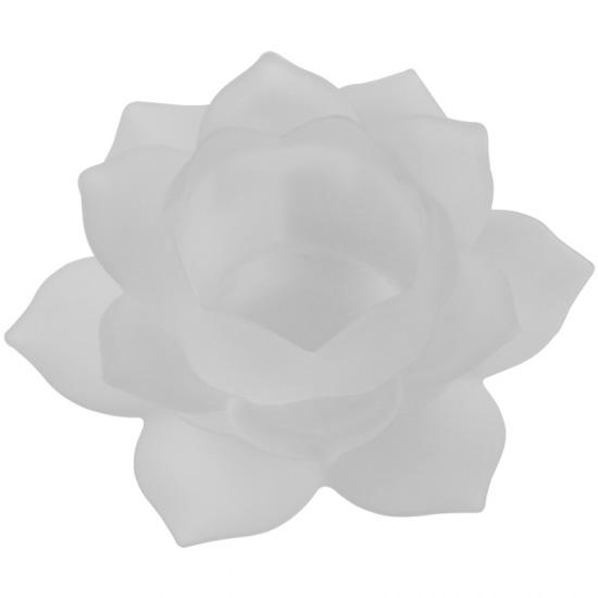 Lotus lyseholder til Fyrfadslys - Hvid