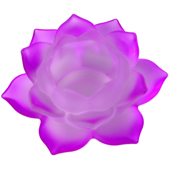 Image of   Lotus lyseholder til Fyrfadslys - Lilla