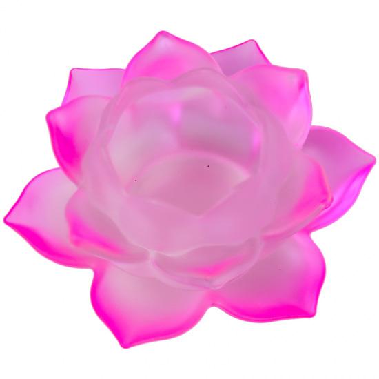 Image of   Lotus lyseholder til Fyrfadslys - Pink