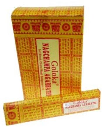 Image of   Goloka Nag Champa røgelse - 15 gram - Røgelsespinde