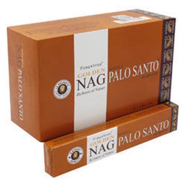 Image of   Golden Nag Palo Santo Røgelse - 15 gram - Indisk Røgelse