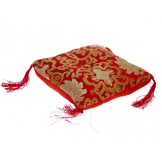 Syngeskåls pude - rød - 18x18x5 cm fra N/A fra bog & mystik