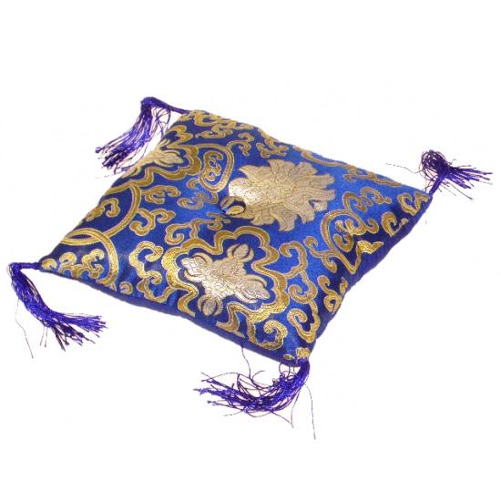 N/A Syngeskåls pude - blå - 14x14x4 cm på bog & mystik
