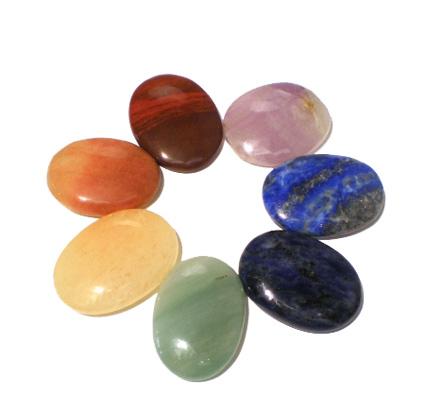 Chakra sten sæt fra N/A på bog & mystik