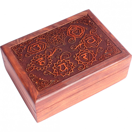 Tarotkort /englekort æske med chakra symboler fra N/A fra bog & mystik