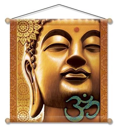 Meditations banner med buddha fra N/A fra bog & mystik