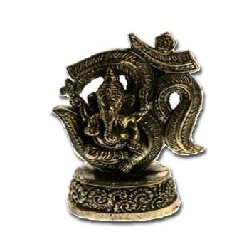 N/A – Ganesh i messing - 6.5cm på bog & mystik