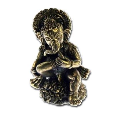 Ganesh i messing - 5.3cm fra N/A på bog & mystik