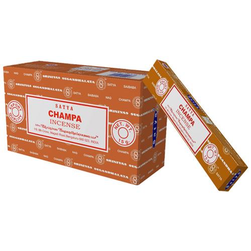 Satya Champa røgelse - 15 gram - Røgelsespinde