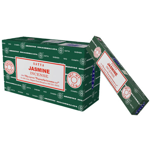 Satya Jasmine røgelse - 15 gram - Røgelsespinde