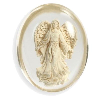 Worry stone - blessing - angelstar fra N/A fra bog & mystik
