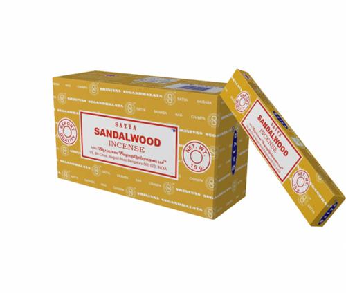 N/A – Satya sandalwood røgelse - 15 gram - røgelsespinde på bog & mystik