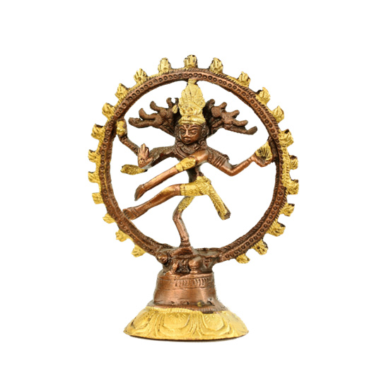 Image of   Shiva Nataraja - messing - tofarvet