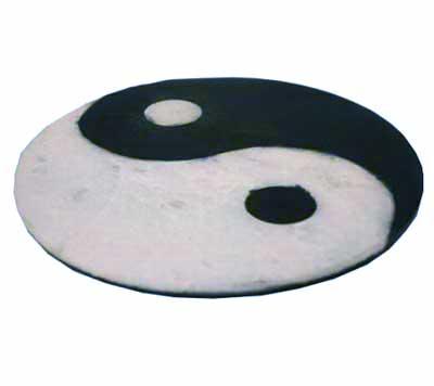 Røgelsesholder med yin yang - 10cm fra N/A fra bog & mystik