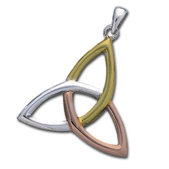 N/A Vedhæng med triquetra - treenighedssymbolet - 34mm - u/kæde på bog & mystik