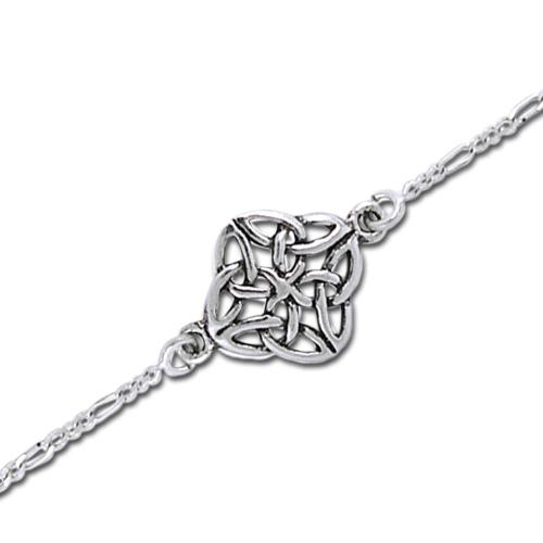 N/A – Armbånd med keltisk knude mønster - 17cm fra bog & mystik