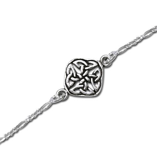 N/A Ankelkæde med keltisk knude mønster - 22cm fra bog & mystik