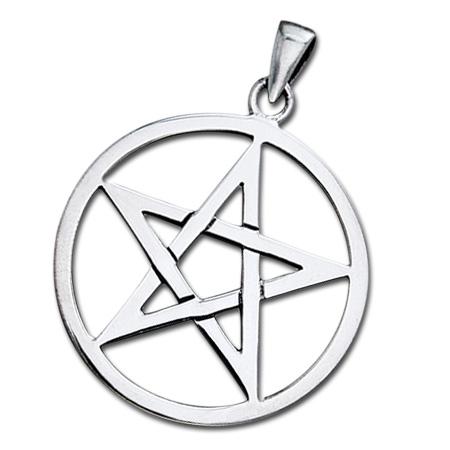 N/A Vedhæng med pentagram - u/kæde fra bog & mystik